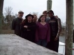 Bryan, Susan, Terri, Emilie, Tad, Maurice, at Hopedale Writers' Camp, January 2010