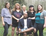 Joselyn, Terri, Leslie, Susan, Emilie, and Maurice at 2011 Writers' Camp
