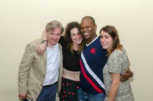 Tad Bartlett, Dana Glass, Maurice Carlos Ruffin, with fellow CWW writer Phinnie Zahareas, at the 2015 CWW Graduate Honors Banquet